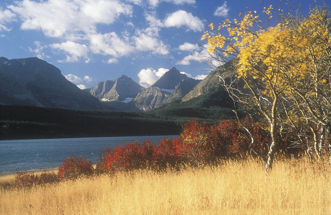 Fall is the perfect time to take a boat tour in Glacier National Park, Montana