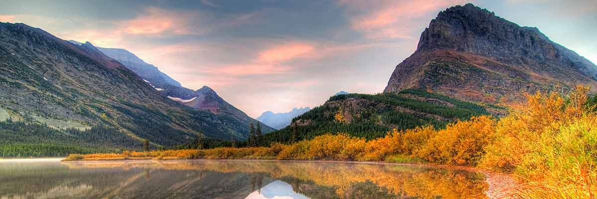 Fall colors in Western Montana's Glacier National Park