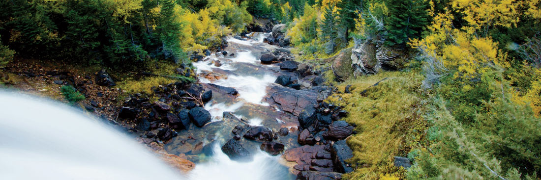 Fall Waterfall in Western Montana's Kootenai Country.