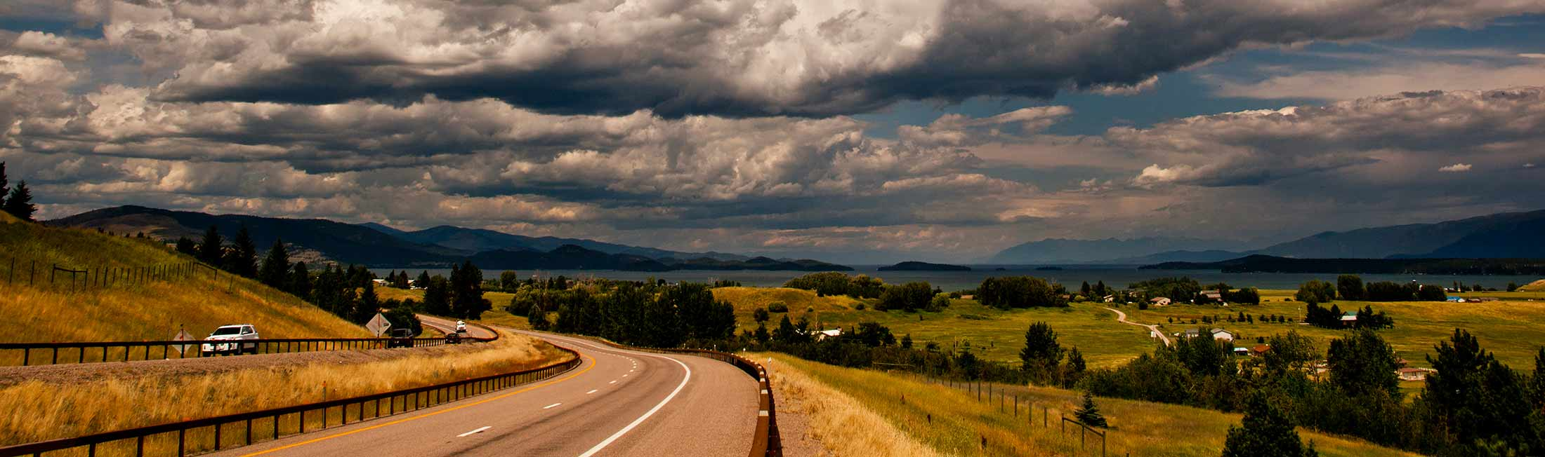 Along Flathead Lake, Polson is one of the areas you will pass through motorcycling from Missoula to Bigfork.