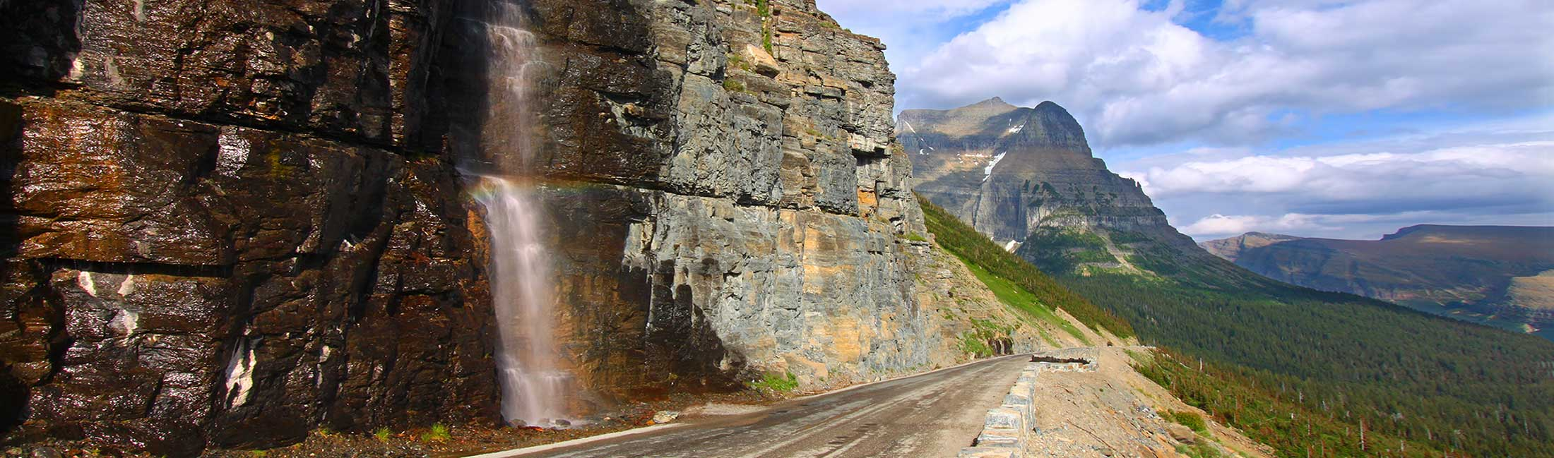 Scenic views on motorcycle can be found in Western Montana's Glacier National Park.