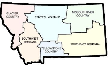 Montana Regions And Regional Travel Information